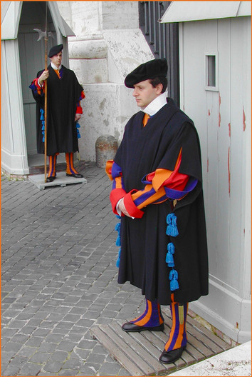 15 SWISS GUARDS AT THE VATICAN by Ron Gaisford