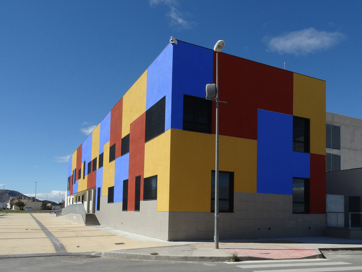 16 COLOURED BUILDING by Brian Whiston