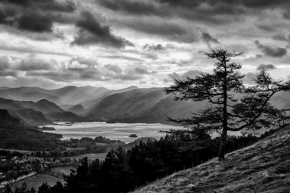 DERWENT WATER FROM LATRIGG by Steve Oakes