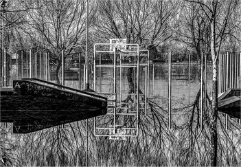 15 A REFLECTIVE VIEW OF A FLOODED PLAYGROUND by Colin Hurley
