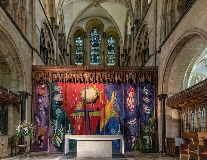 PRINT 17 CHICHESTER CATHEDRAL HIGH ALTAR by Denys Clarke