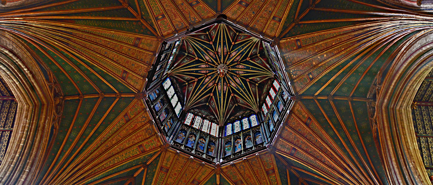 11 LOOKING UP - ELY CATHEDRAL by Joan Gow