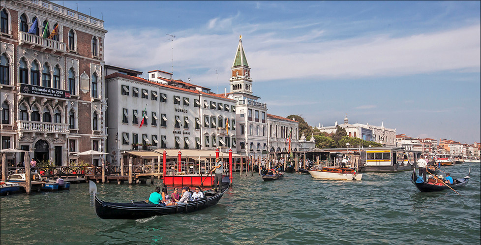 16 A GONDOLIER EXPERIENCE GRAND CANAL VENICE by Graham Bunyan