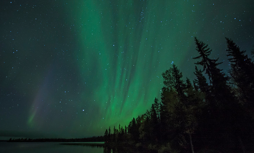 17 NIGHT SKY IN LAPLAND by Mike Hart