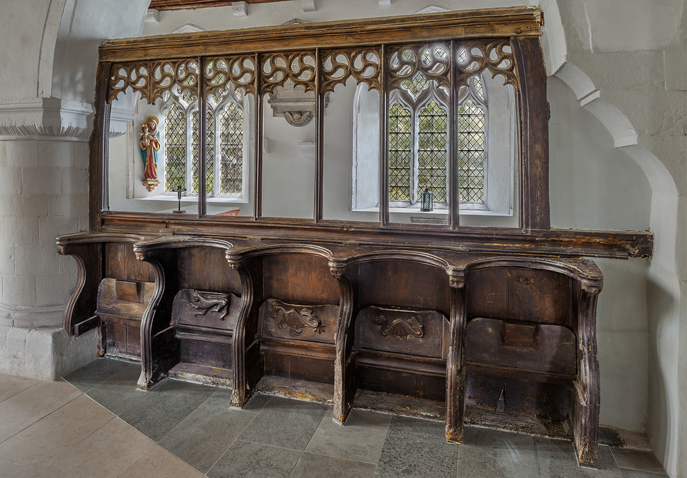 18 CHOIR STALLS ALL SAINTS CHURCH ULCOMBE KENT by Chris Rigby