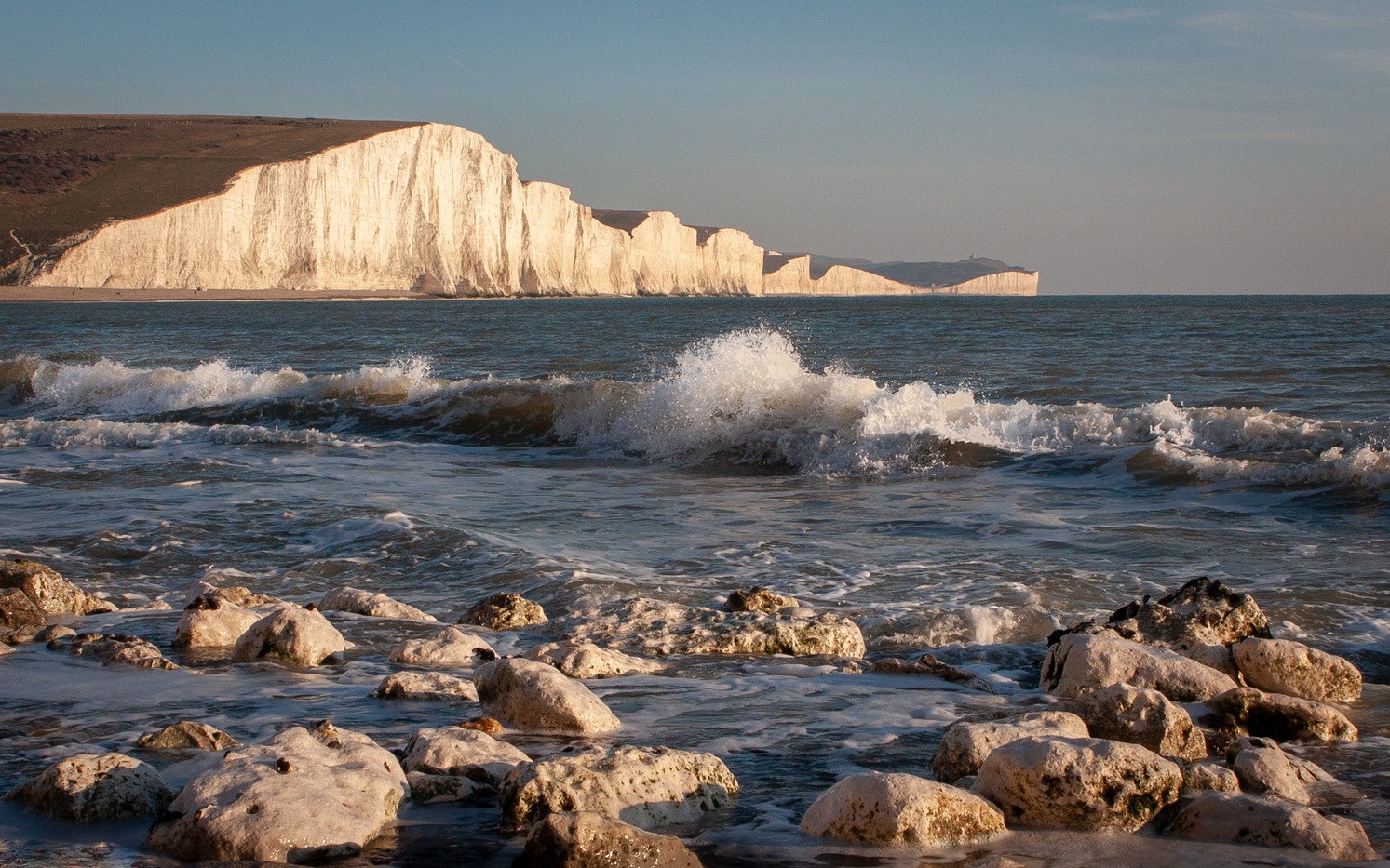 17 WINTER LIGHT AT SEVEN SISTERS by Roger Wates