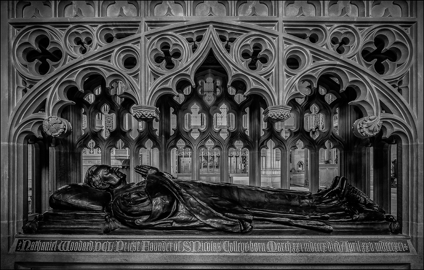 PRINT 20 THE TOMB OF NATHANIEL WOODWARD, LANCING CHAPEL by Mick Dudley