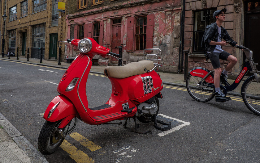 17 RED BIKES by John Lewis