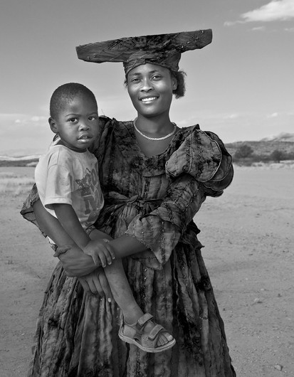17 HERERO WOMAN WITH CHILD by Peter Tulloch