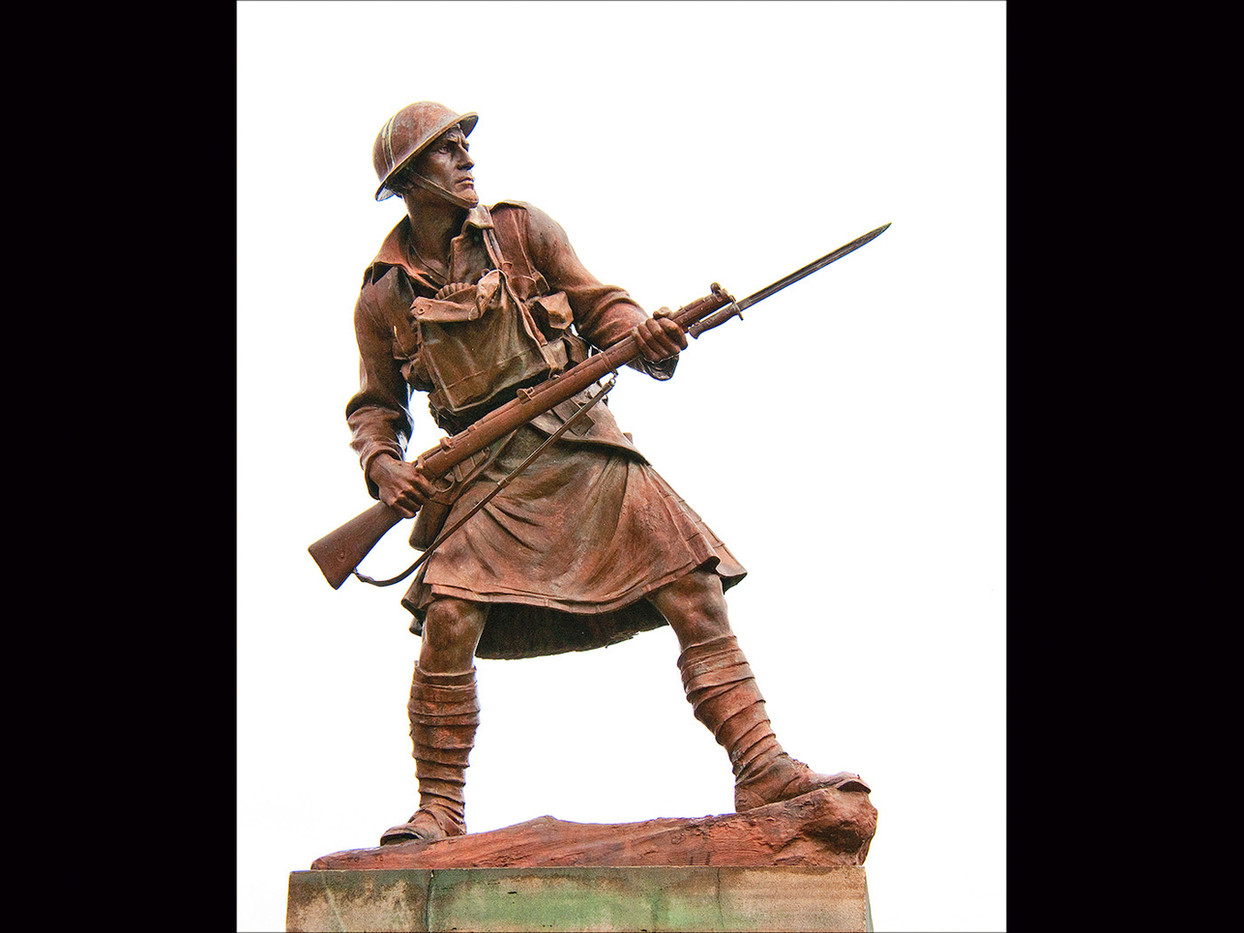 19 LIFE SIZE BRONZE FIGURE - WAR MEMORIAL DINGWALL by Swales Parry