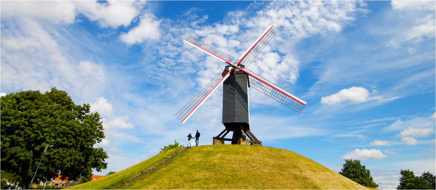17 KOELEWEIMOLEN WINDMILL BRUGES by Dave Brooker