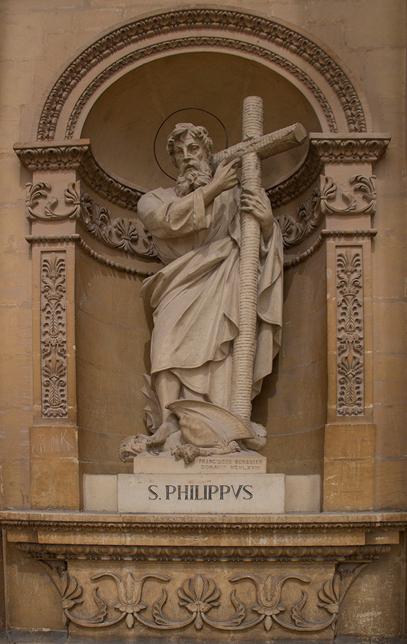 17 STATUE OF ST PHILIP, APPROX 8 FFET TALL, CHURCH OF ST MARY, MOSTA, MALTA by Colin Burgess