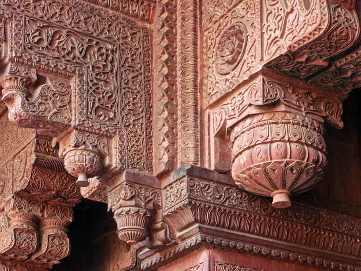 19 RED FORT STRUCTURAL STONEWORK DETAILING by Peter Tulloch