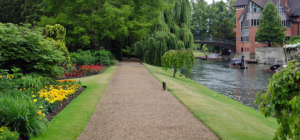 15 PUNTING BY CLARE COLLEGE GARDENS by Jown Gow