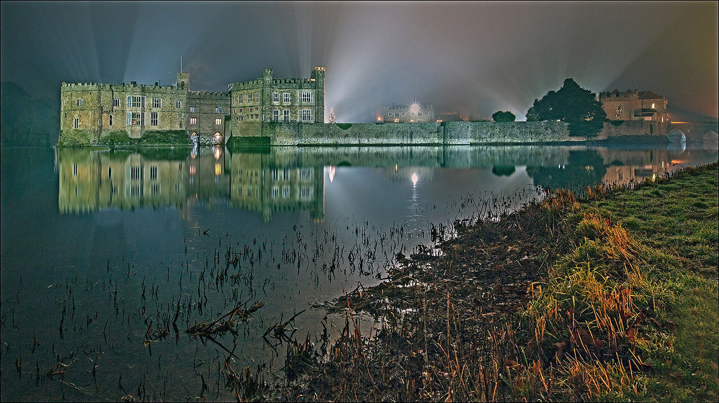 GROUP 1 14 LIGHTS ON AT LEEDS CASTLE by Graham Bunyan
