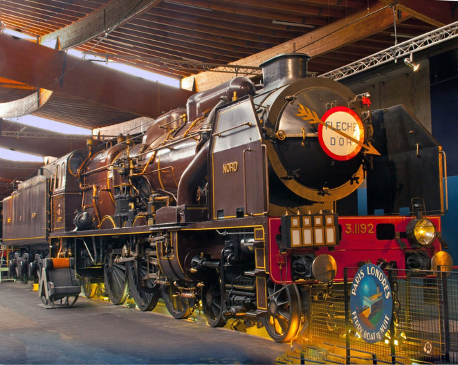 16 CHAPELON PACIFIC LOCOMOTIVE AT FRENCH NATIONAL RAILWAY MUSEUM by Clive Brewer