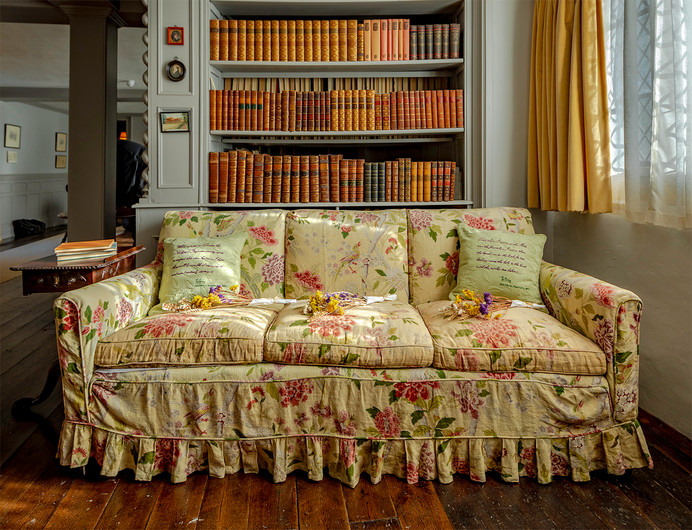 PRINT 19 THE SOFA IN C. H. ROBINSON'S LIBRARY IGHTHAM MOTE by Philip Easom