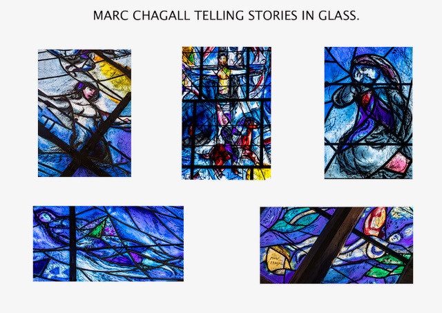 PANEL MARC CHAGALL TELLING STORIES IN GLASS by Philip Easom