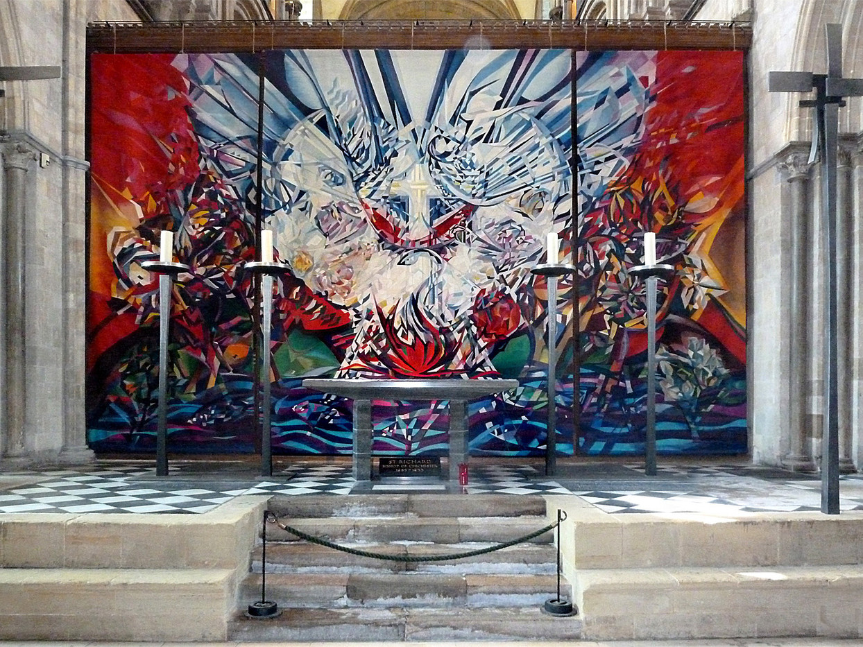ALTAR SCREEN CHICHESTER CATHEDRAL by Brenda Whiston
