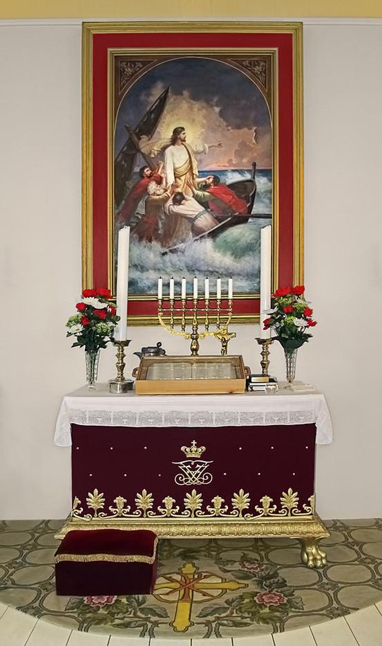 18 QAQORTOG CHURCH ALTAR by Pam Sherren