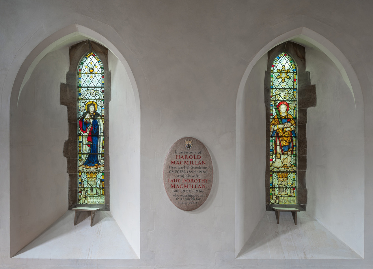 19 MEMORIAL PLAQUE AND WINDOWS ST  GILES CHURCH HORSTED KEYNES by Chris Rigby