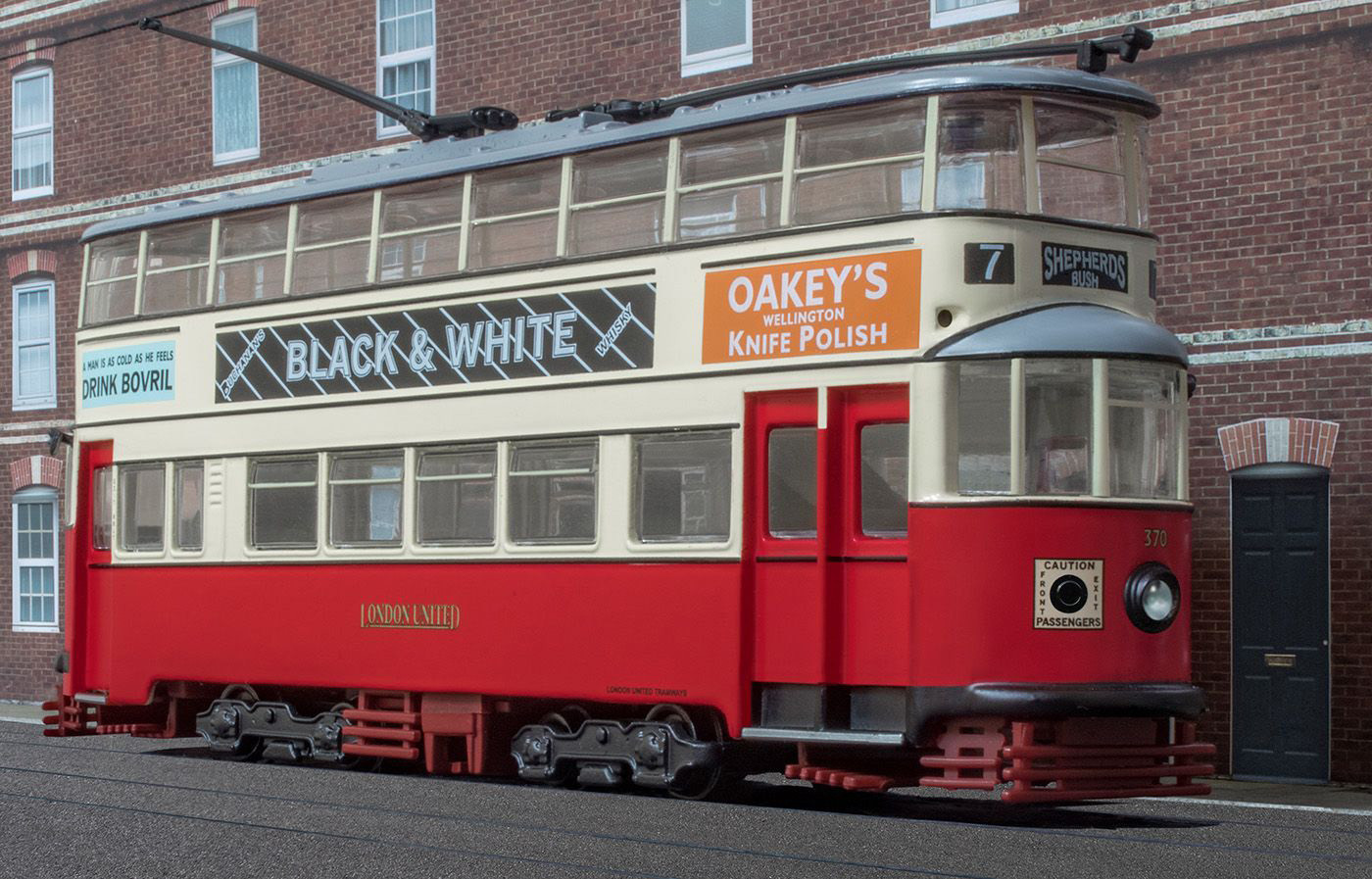 17 MODEL, 6 CENTIMETRES TALL, OF SO-CALLED 'FELTHAM' TRAM BUILT FOR LONDON UNITED TRAMWAYS IN 1931 by Philip Smithies