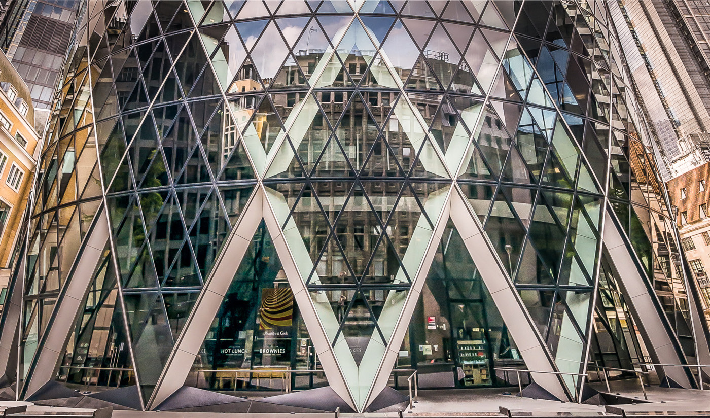 15 THE GHERKIN AT THE GROUND by Roger Wates