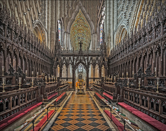 12 THE SOUTH CHOIR ISLE ELY CATHEDRAL by Graham Bunyan
