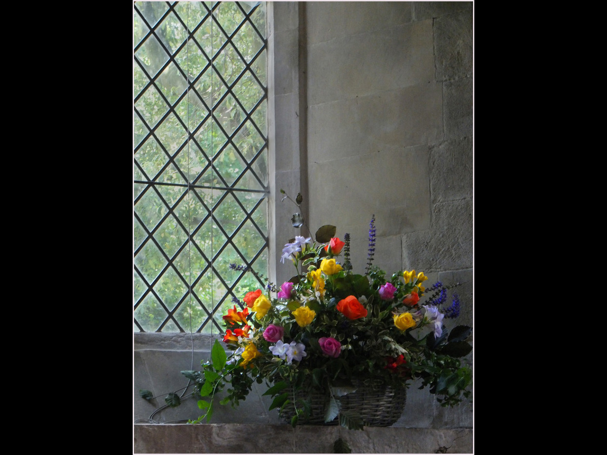 FLOWERS BY THE WINDOW by Cathie Agates