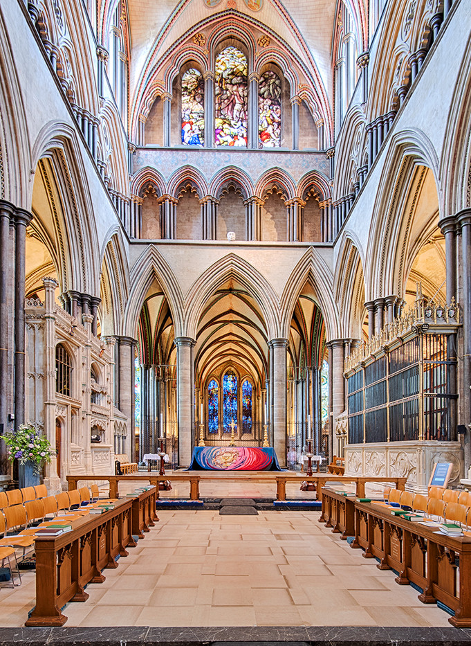 15 HIGH ALTAR SALISBURY CATHEDRAL by John Butler