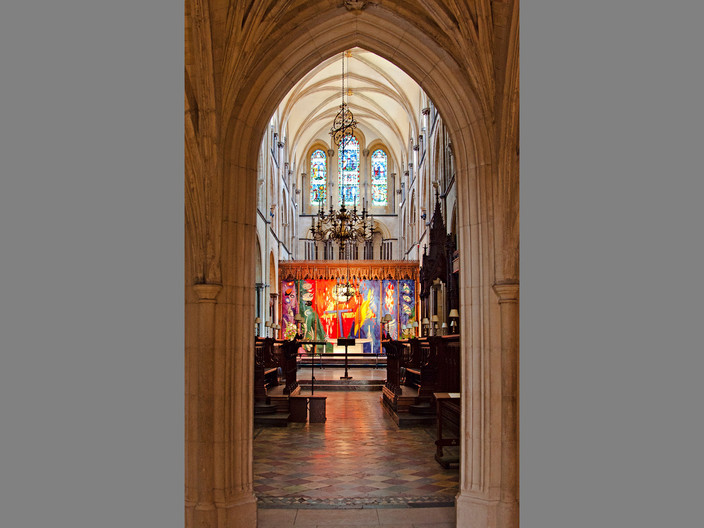 CHICHESTER ALTAR FIRE by Denys Clarke
