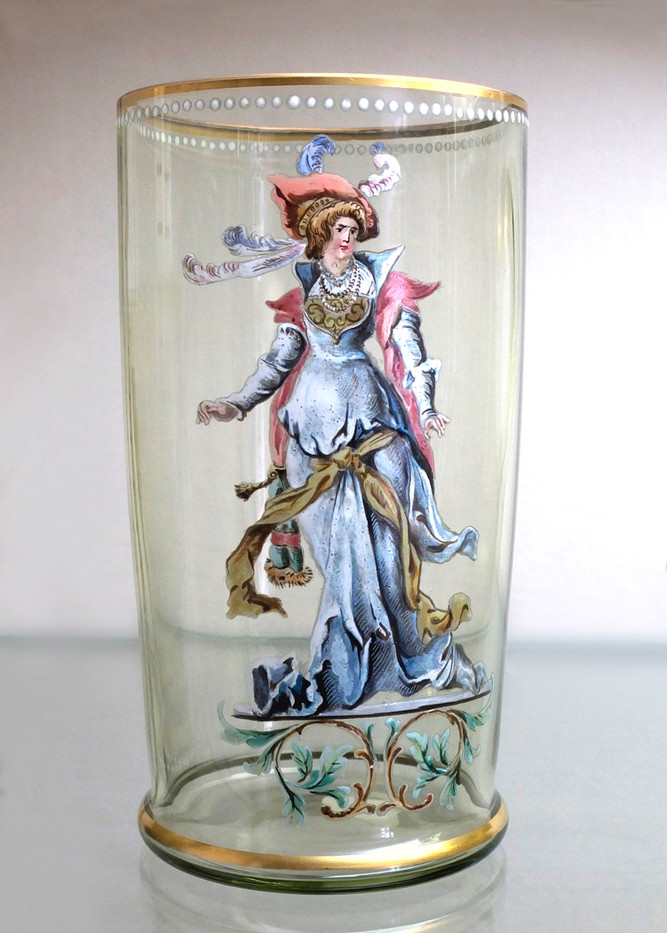 16 BAVARIAN 16TH CENTURY DRINKING GLASS by Keith Evans