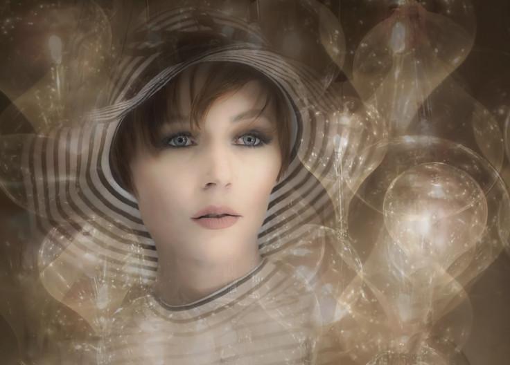 15 LADY BY LAMPLIGHT by Pam Sherren