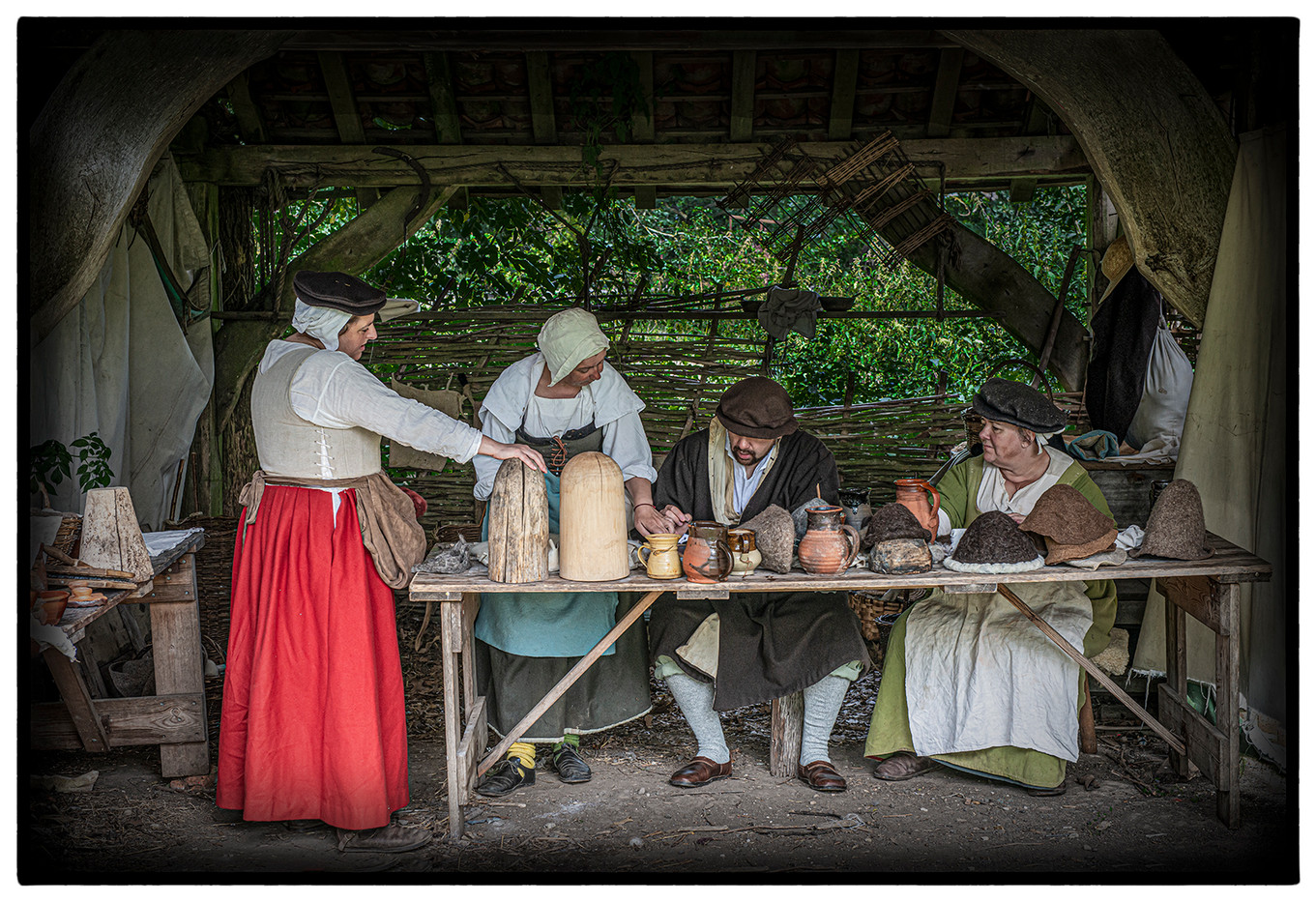 17 16TH CENTURY MILLINERS by Mick Dudley