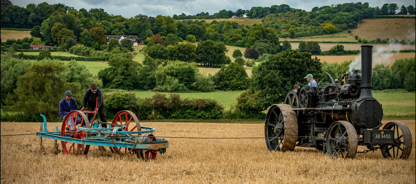 16 STEAM PLOUGHMEN TURNING by Mick Dudley