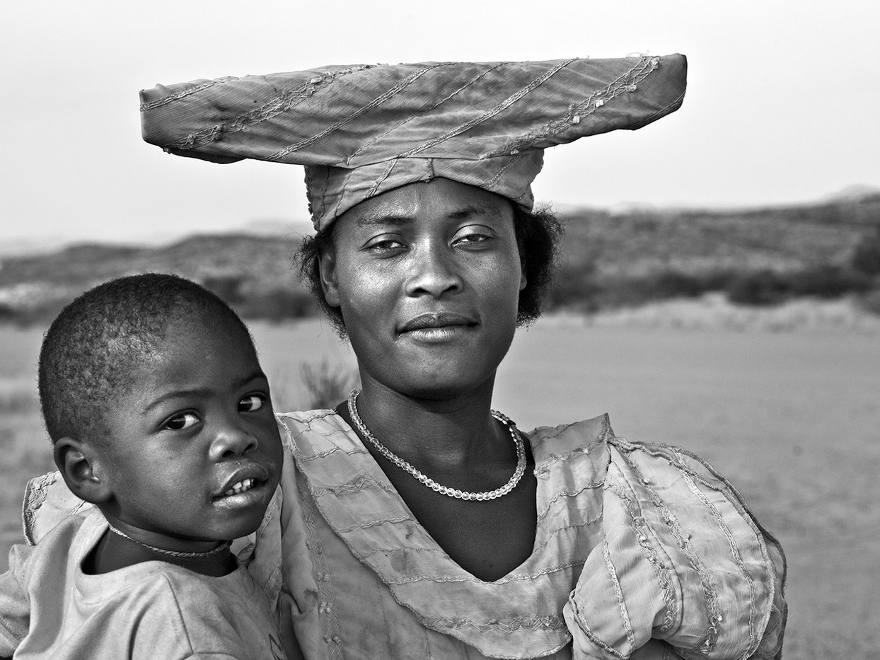 15 HERERO WOMAN WITH BOY by Peter Tulloch