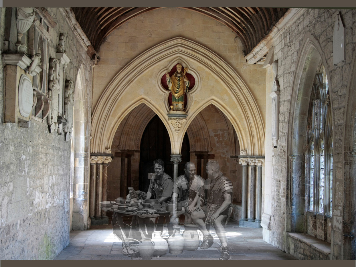 GHOSTS IN THE CLOISTER by Denys Clarke