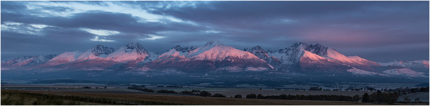 19 HIGH TATRA MOUNTAINS AT DAWN by Colin Burgess