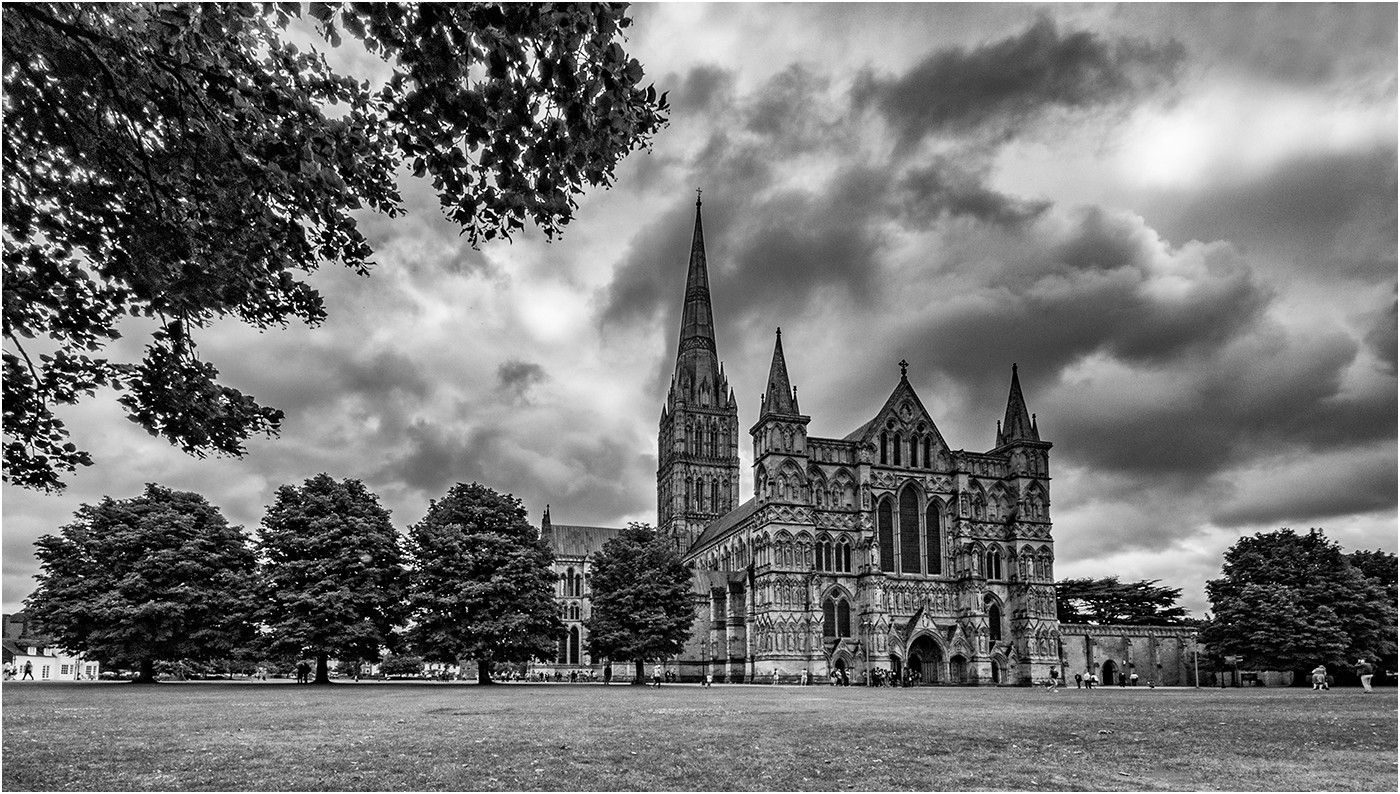 14 STORM GATHERING OVER THE CATHEDRAL by Colin Burgess