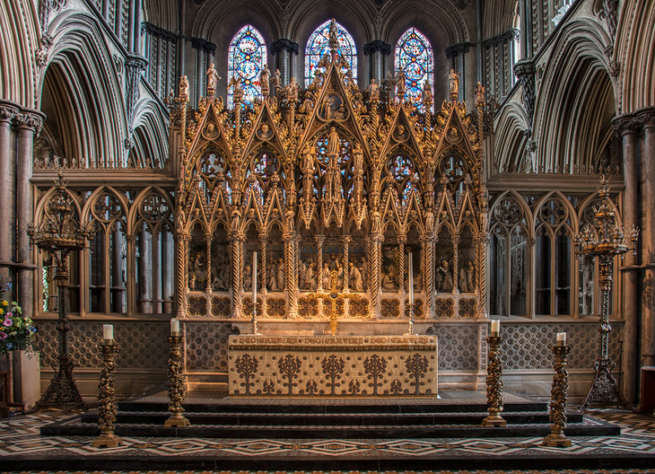 18 HIGH ALTAR, ELY CATHEDRAL by Colin Burgess