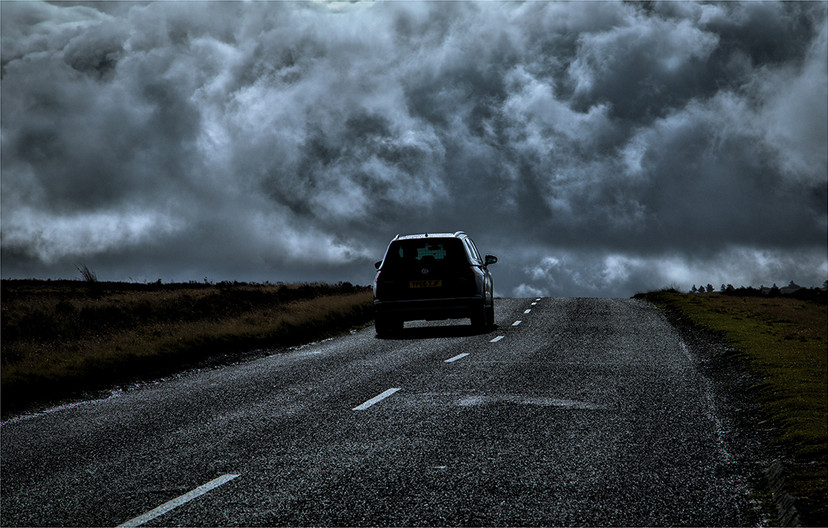 17 DRIVING INTO A STORM by Sonia Peek