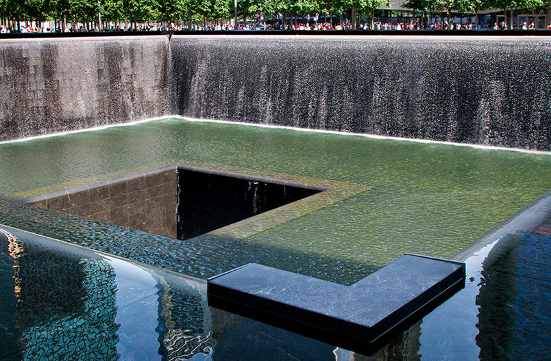 17 GROUND ZERO 911 MEMORIAL SOUTH POOL by Joan Gow