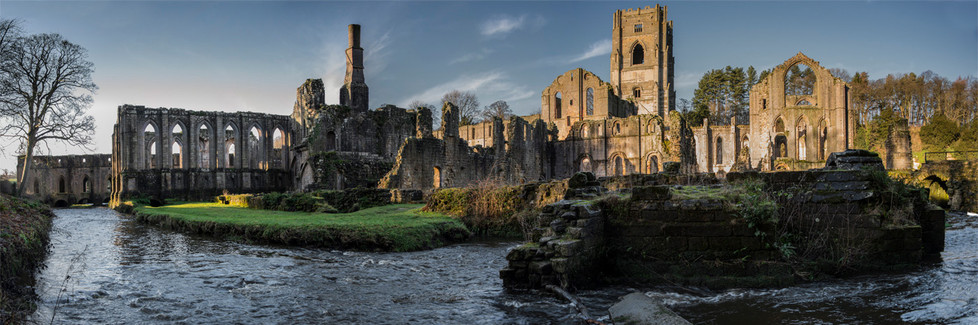 18 FOUNTAINS ABBEY PANORAMA by Alan Cork