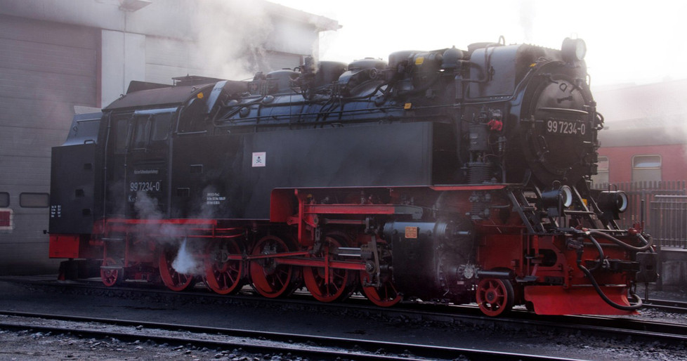 14 2-10-2 TANK LOCOMOTIVE 997234-0 AT WERNIGERODE DEPOT HARZ MOUNTAIN RAILWAY by Clive Brewer