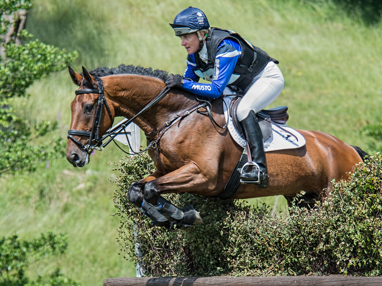 GROUP 1 17 TINA COOK FLYING AT ERIDGE by Alan Cork