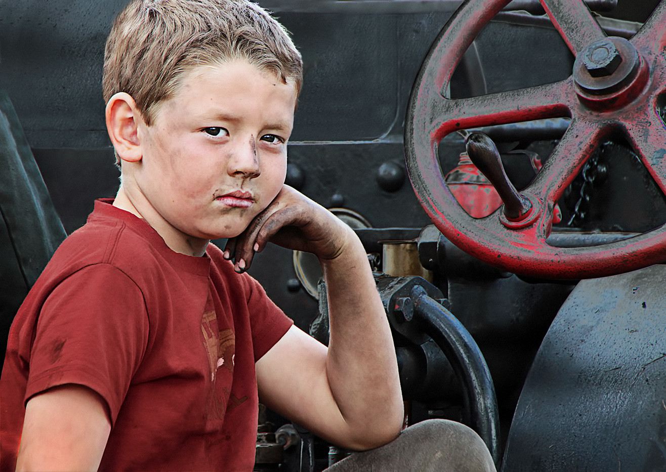 20 FED UP AT THE STEAM FAIR by Pam Sherren