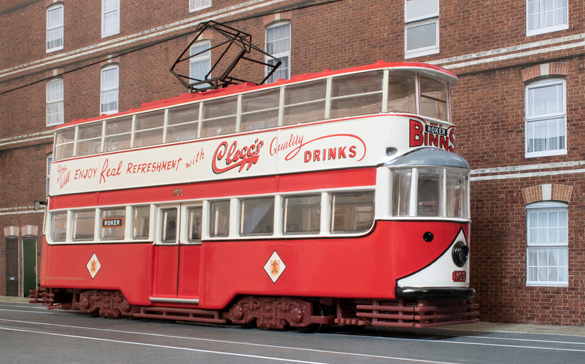 SUNDERLAND MODEL TRAM (TWO INCHES TALL) by Philip Smithies
