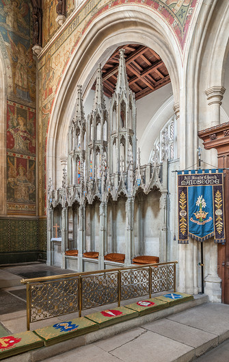 18 FIFTEENTH CENTURY SEDILIA ALL  SAINTS CHURCH MAIDSTONE KENT by Chris Rigby