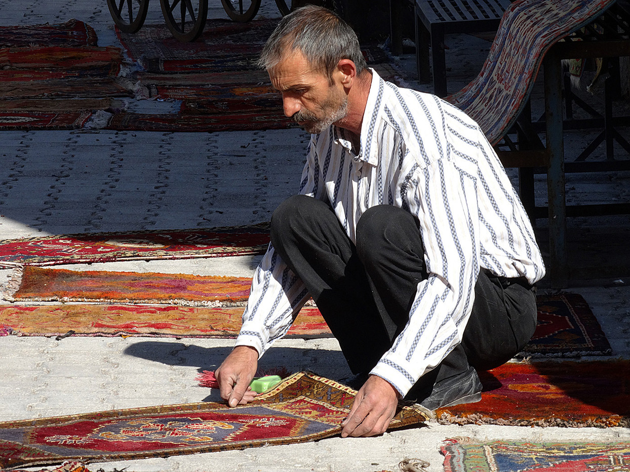 GROUP 1 15 TURKISH CARPET SELLER by Brian Whiston