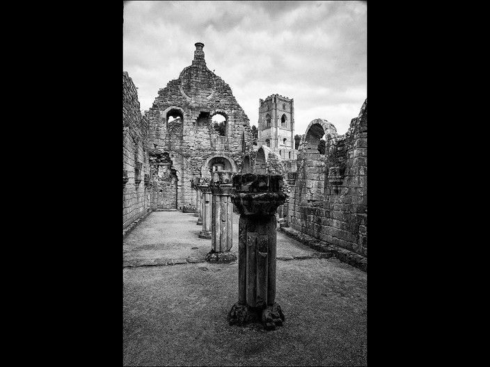 18 WITHIN FOUNTAINS ABBEY by Cathie Agates